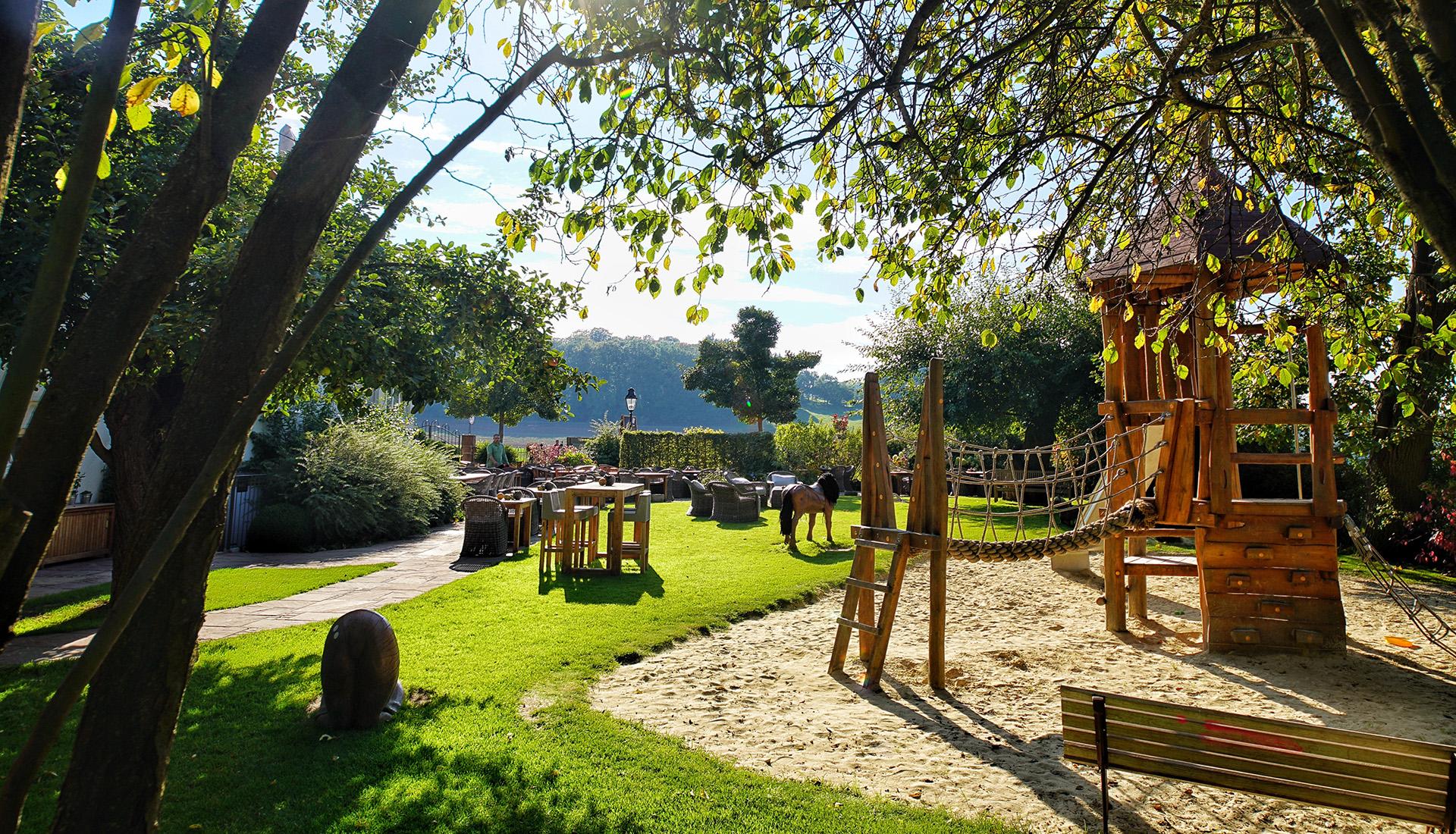 Der Kinderspielplatz des Waldschlösschen Dagobertshausen