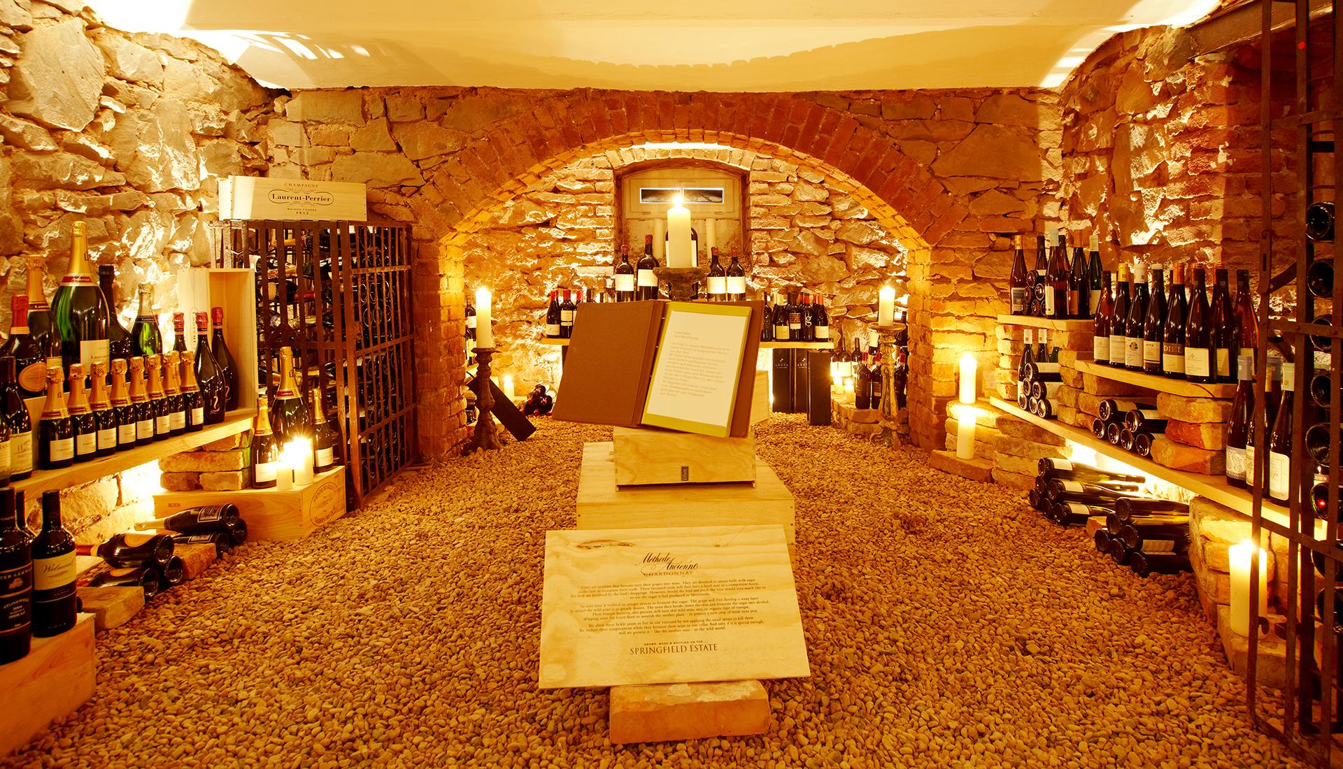 Der Weinkeller im Waldschlösschen Dagobertshausen