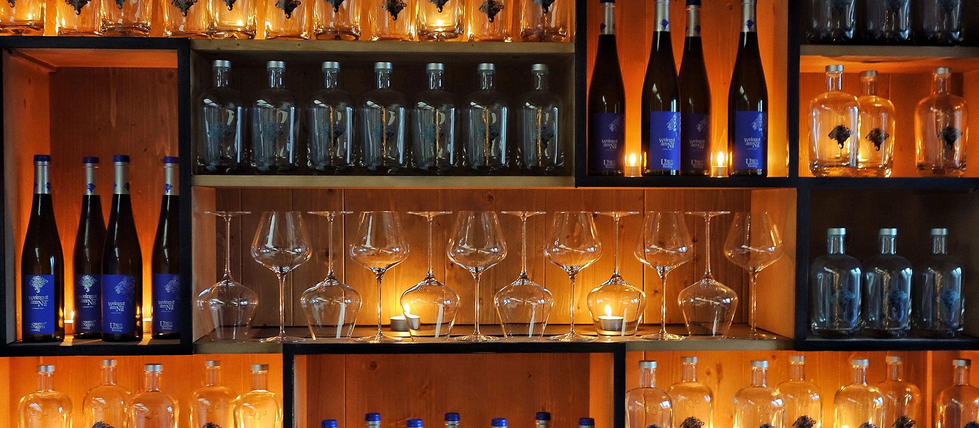 Die Vinothek im Weingut am Nil