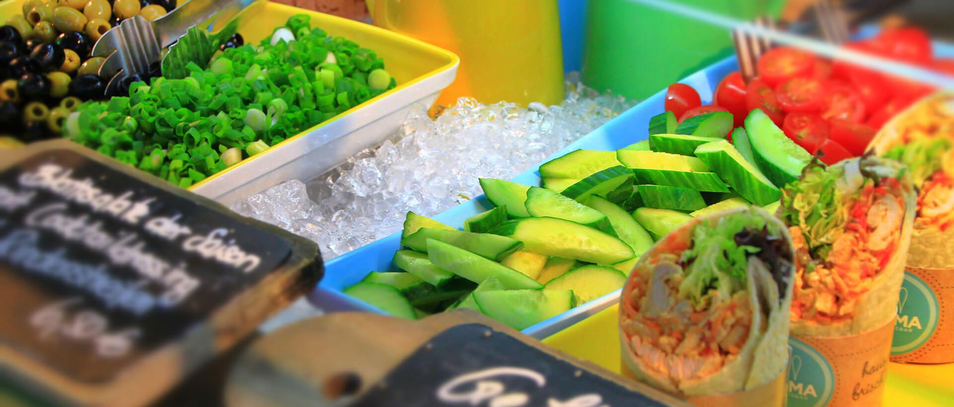 Herzhafte Speisen in der Aroma Bistro & Eisbar