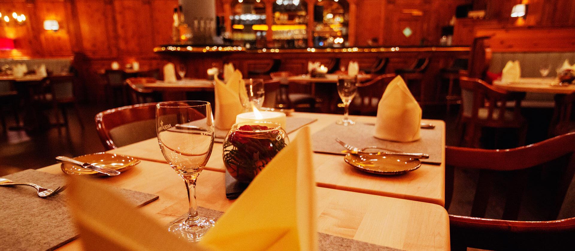 Das Restaurant Zirbelstube im Hotel VILA VITA Marburg