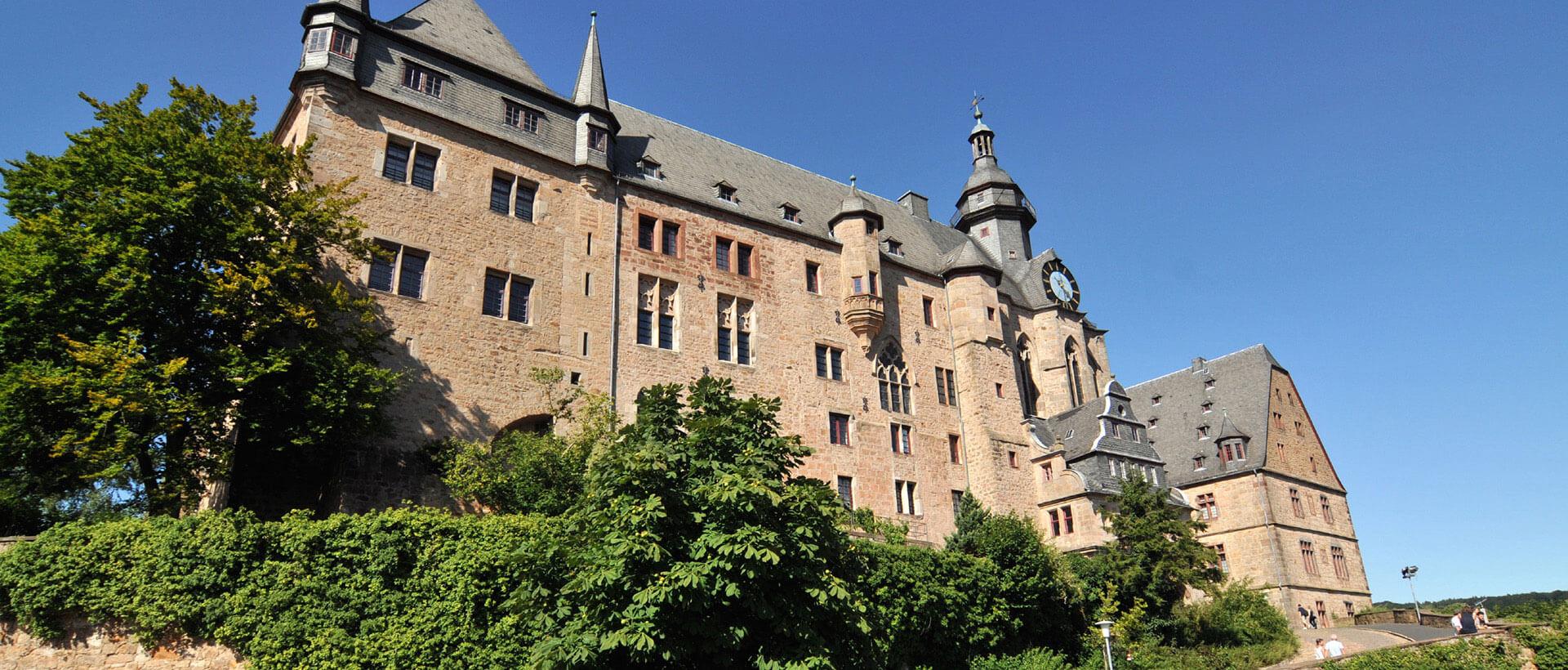 Die Marburger Oberstadt mit dem Landgrafenschloss, Credit Georg Kronenberg