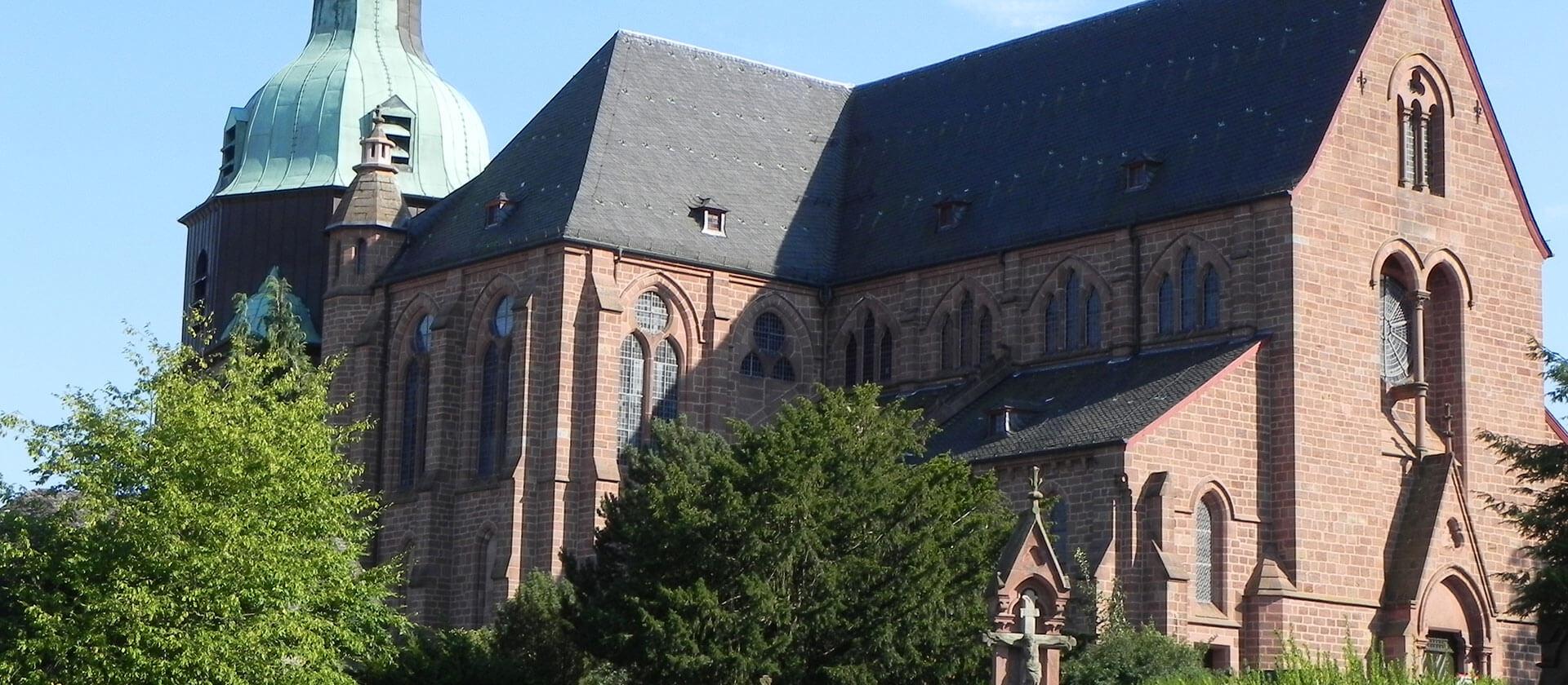 Die Stiftskirche in Amöneburg, Fotocredit Pfarrer Vogler
