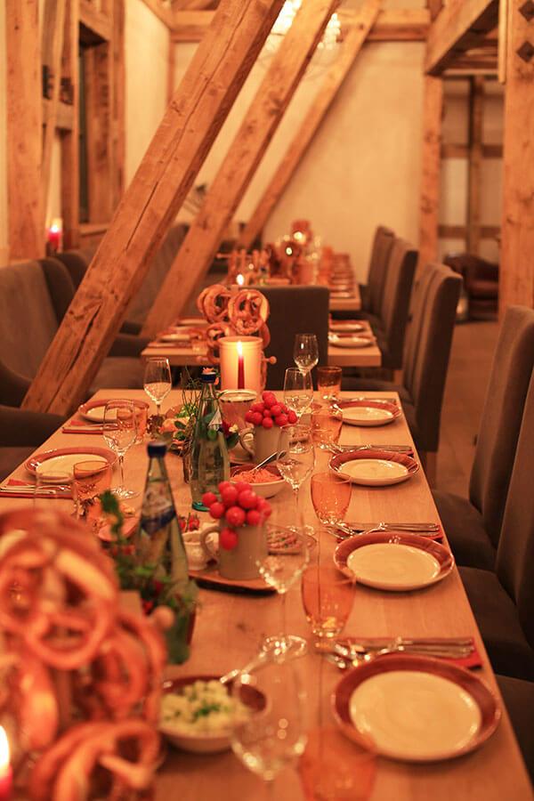 Familienfeier in der Kulturscheune auf dem Hofgut Dagobertshausen