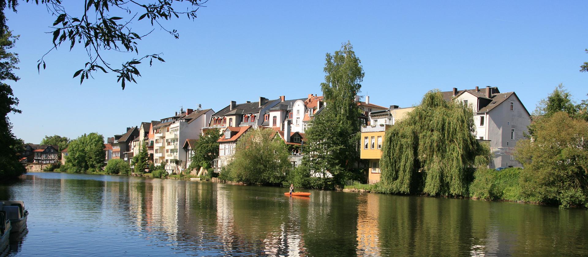Die Marburger Lahn