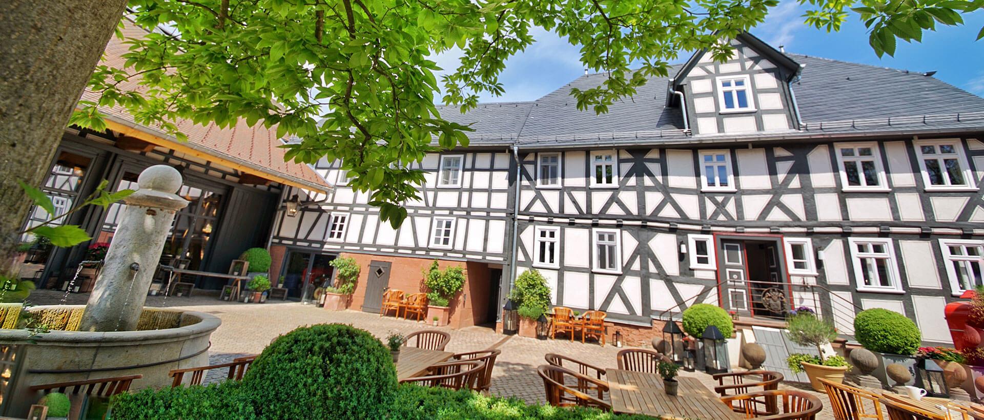 Die Pension Schlafgut in Dagobertshausen nahe Marburg