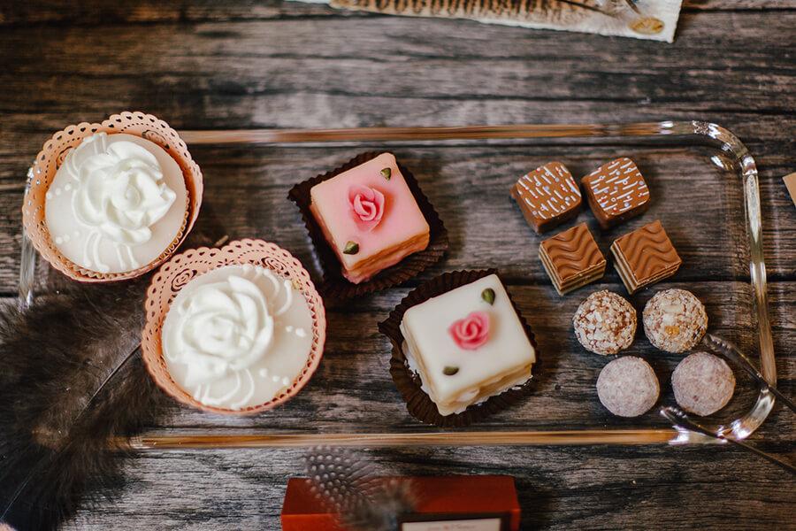 Pralinen und Cupcakes aus dem Café Rosenpark, Fotocredit Michaela Mai